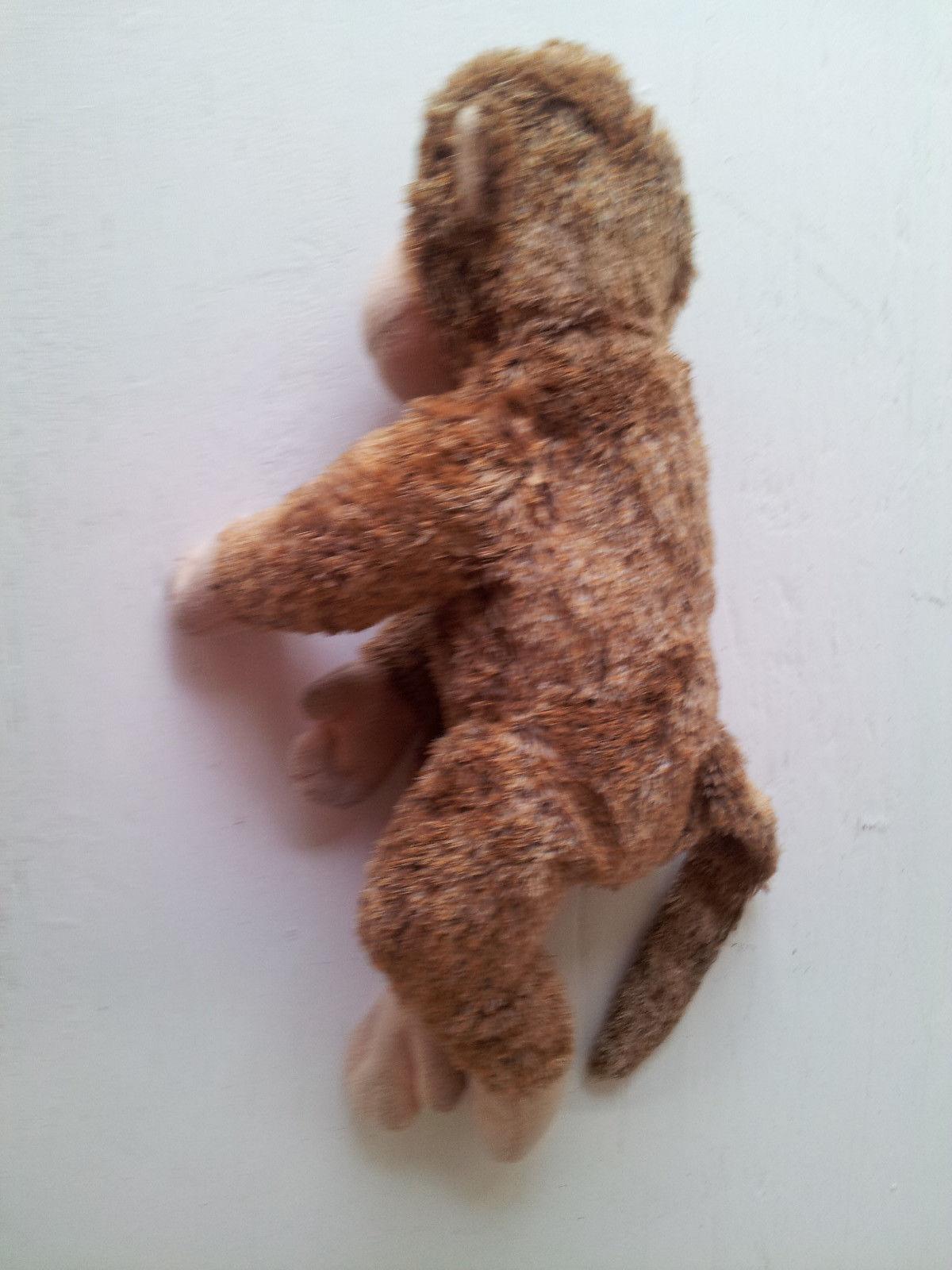"""TY Monkey Ape Toy Brown Tan Fuzzy Soft Beanie Baby Plush Stuffed Animal 10"""" image 2"""