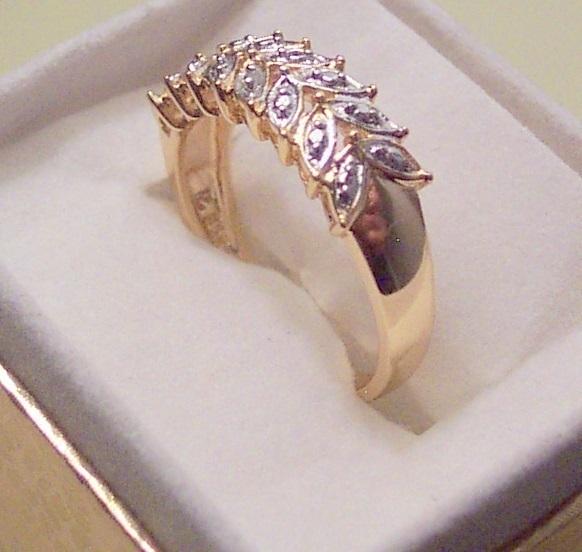 Diamond Accent Leaf Ring