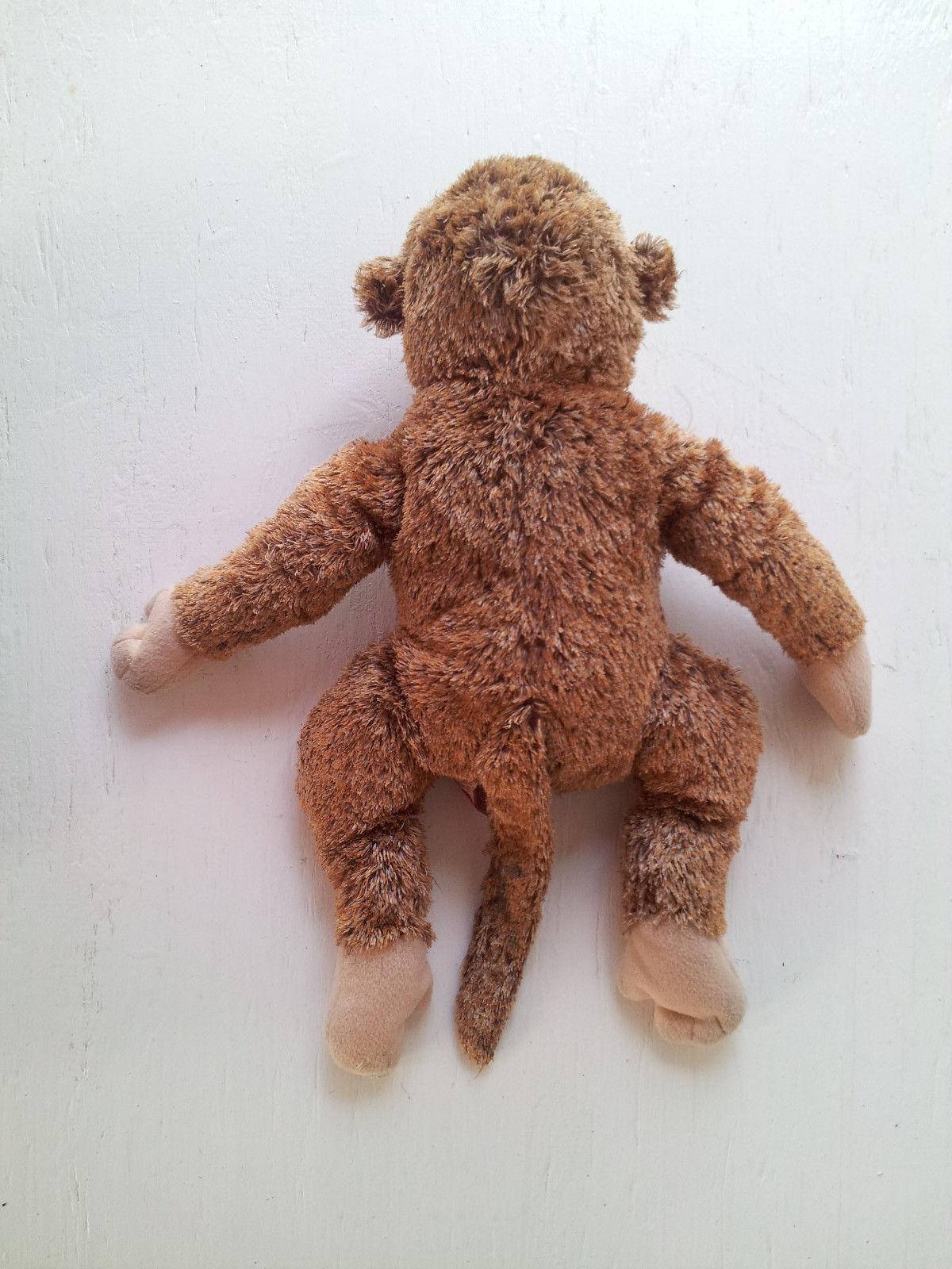 """TY Monkey Ape Toy Brown Tan Fuzzy Soft Beanie Baby Plush Stuffed Animal 10"""" image 4"""