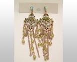 Peridot colored bead earrings thumb155 crop