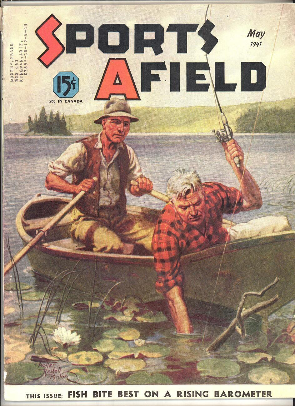 Sports afield magazine may 1941 hinton artist cover for Sa fishing promo code free shipping