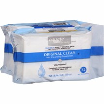 Equate Beauty Original Clean Wet Cleansing Towelettes, 72 sheets, (Pack of 2) - $10.39