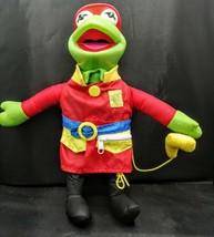 """Vintage 1990 Arco 14"""" Kermit The Frog As A Fireman Plush  - $24.70"""