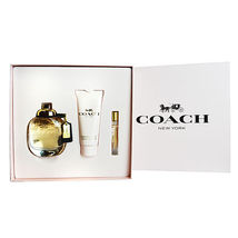 Coach New York Perfume 3.0 Oz Eau De Parfum Spray Gift Set image 1