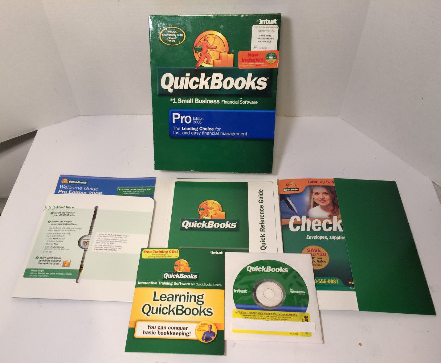 Intuit Quickbooks Pro 2006 Small Business Financial Software + Learning QB CD