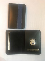 NY Police Officer Thin Blue Line Officer Friend Mini Shield  ID Wallet - $22.28