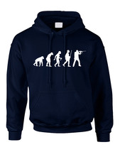 Adult Hoodie Hunting Evolution Funny Hunting Sweatshirt - $23.94+