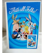 Porky Pig Looney Tunes Collectible Souvenir USPS Stamp 34c Stamp Picture... - $17.82
