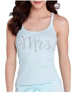Betsey Johnson Bridal Party Mrs Jeweled Tank Top Light Blue Size Small NWT - $14.25