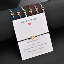 2019 NEW Make A Wish card adjustable bracelet romantic 7 colors rope cha... - $6.80