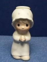 1984 PRECIOUS MOMENTS ANNUAL HANGING CHRISTMAS ORNAMENT E5386 O WORSHIP ... - $9.80