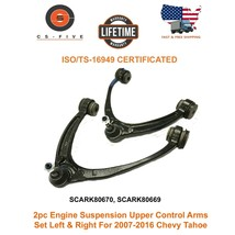 2pc Suspension Upper Control Arms Set Left & Right For 2007 - 2016 Chevy... - $81.40
