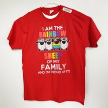 NWT I am The Rainbow Sheep of My Family Red T-Shirt XL New with Tags - $15.79