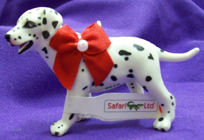 Primary image for Custom Made Safari Black & White Dalmation Puppy Dog Christmas Holiday Ornament
