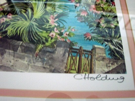 Hamilton from Harbour Road Bermuda  Pastel Painting- by C.Holding Signed, Frame image 4