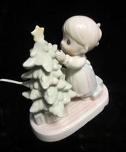 "Precious Moments Porcelain Night Light Christmas Tree - "" God Cared Enough "" - $24.65"