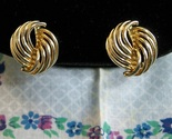 Vintage goldtone swirl earrings1 thumb155 crop