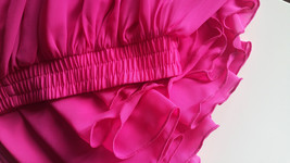 Fuchsia Hot Pink Full Chiffon Skirt Floor Length Summer Bridesmaid Chiffon Skirt image 8