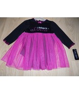 Size 9 Months Baby Glam I Believe in Santa Onepiece Tulle Skirt Pink Bla... - $16.00