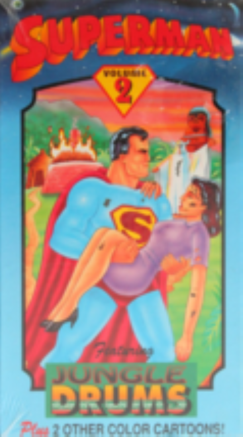 Superman, Volume 2 Featuring Jungle Drums, Plus 2 Other Color Cartoons Vhs
