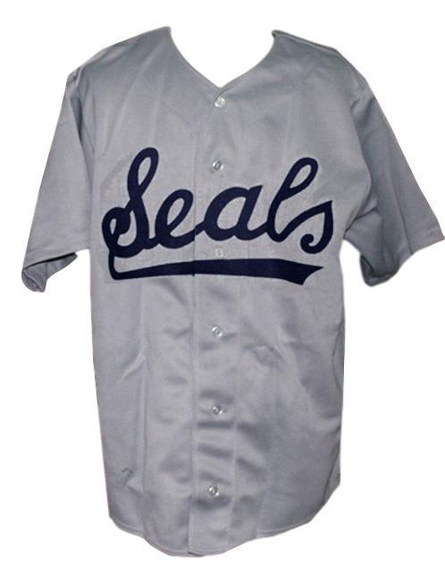 San francisco seals pcl retro baseball jersey 1957 button down  grey   1