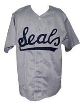 San Francisco Seals Pcl Retro Baseball Jersey 1957 Button Down Grey Any Size image 1