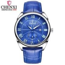 CHENXI Fashion Vintage Men Watch Leather Roman Numerals  Wrist Watch Waterproof  - $31.73
