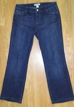 White House Black Market 6R Blanc Rhinestone Embellished Bling Bootcut Jeans EUC - $14.84