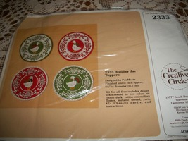 The Creative Circle Kit 2333~Holiday Jar Toppers - $12.00