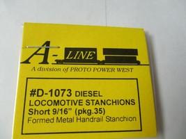 """A-Line # D-1073 Diesel Locomotive Stanchions Short 9/16""""  Pack 35 HO Scale image 2"""