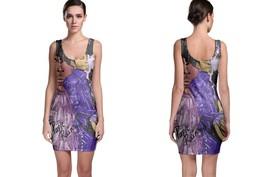 Bodycon Dress Purple Rain On Guitar - $22.99+
