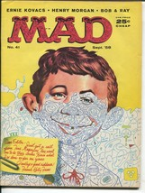 Sept 1958 Mad Magazine #41 Henry Morgan Bob & Ray Don Martin Kelly Freas - $14.99
