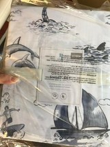 Pottery Barn Kids Surf Vibes Sheet Set Twin Island Coastal Decor Boy's New - $86.89