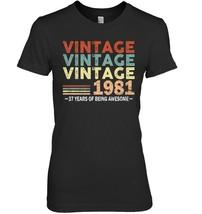 37th Birthday Gifts Vintage 1981 Shirts 37 Yrs Old Men Women - $19.99+