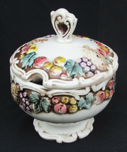 Lefton Della Robbia sugar bowl & lid 1958 vintage piece good - $6.44