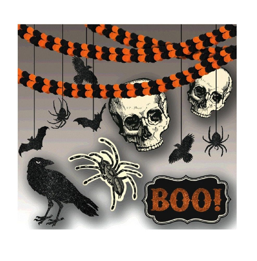 New Age Scare Halloween Party Spooky Creatures Room Decorating Kit (21 Piece)
