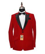 Men Red Smoking Jackets Designer Dinner Party Wear Wedding Blazer Coat - $149.99