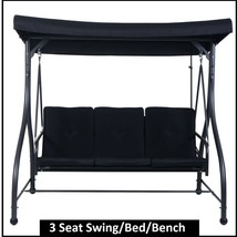 Deck Swing Patio Garden Furniture Seat Porch Bench Canopy Cushioned With... - $248.67