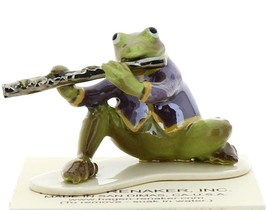 Hagen-Renaker Miniature Ceramic Frog Figurine Toadally Brass Band Flute Player