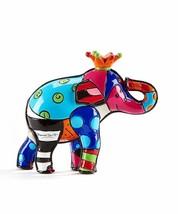 Romero Britto Miniature Mini 3D Elephant Figurine #334447 Collectible Cr... - $34.64