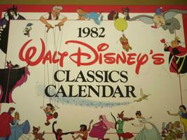 Vintage 1982 Authentic Walt DISNEY Classics Calendar Snow White Cinderella Dumbo - $31.99