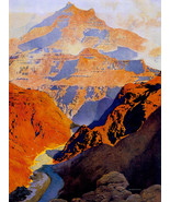 Maxfield Parrish The Grand Canyon 22x30 Hand Numbered Edition Art Deco P... - $81.09