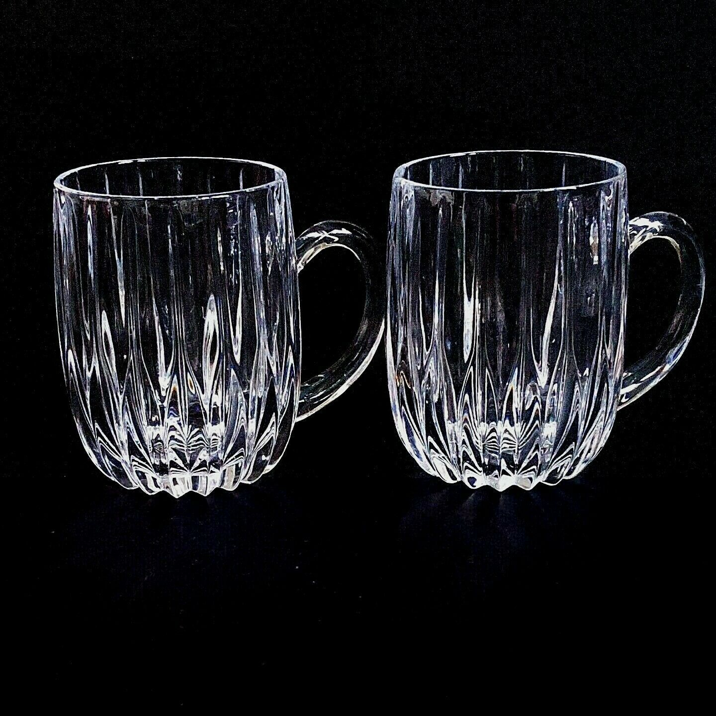 Primary image for 2 (Two) MIKASA PARK LANE Cut Lead Crystal Mugs - DISCONTINUED