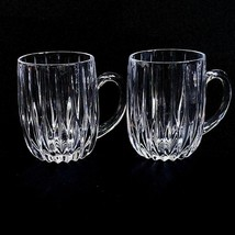 2 (Two) MIKASA PARK LANE Cut Lead Crystal Mugs - DISCONTINUED - $66.49