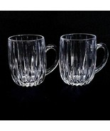 2 (Two) MIKASA PARK LANE Cut Lead Crystal Mugs - DISCONTINUED - $69.99