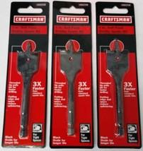 "Craftsman 66258 1"" x 4"" Self Feed Stubby Spade Bit (3 Packs) - $3.86"