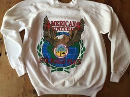 Sweatshirt Operation Desert Storm Americans United For World Peace XL 46... - $15.38