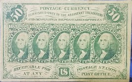 1862 50C Cent Washington Paper U.S. Fractional Postage Currency Note Civ... - $119.95