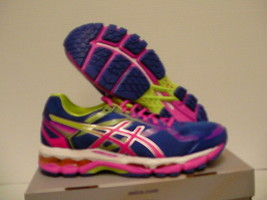 Asics Mujer Zapatillas para Correr Gel Topógrafo 5 Azul Rosa Lima Talla 9 - $136.36