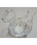 I) Glass Swan Trinket Jewelry Holder Home Decor Figurine Animal Statue - £3.66 GBP